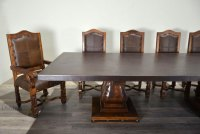 Mesa Hoja with Copper Top, Spanish Style Dining Table ...
