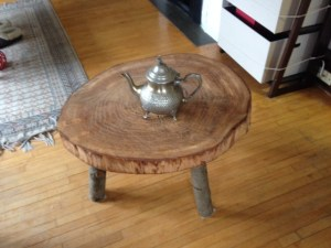 Wood carved coffee table II