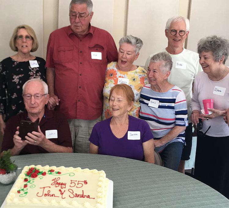 Open Door Café participants celebrate together