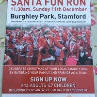 Stamford Santa Fun Run on 11 December