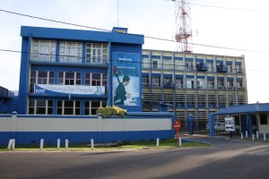 The headquarters of the Guyana Telephone and Telegraph.