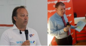 """GTT""""s Chief Commercial Officer, Gert Post and CEO of Digicel (Guyana), Kevin Kelly."""