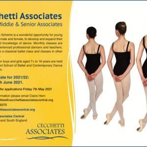 Cecchetti Associates Central 2021/22 Auditions