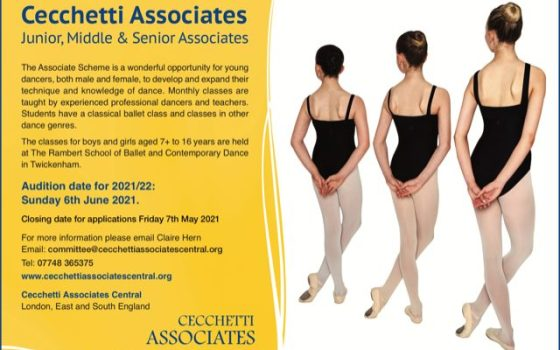 Cecchetti Associates Central 2021/22 Auditions