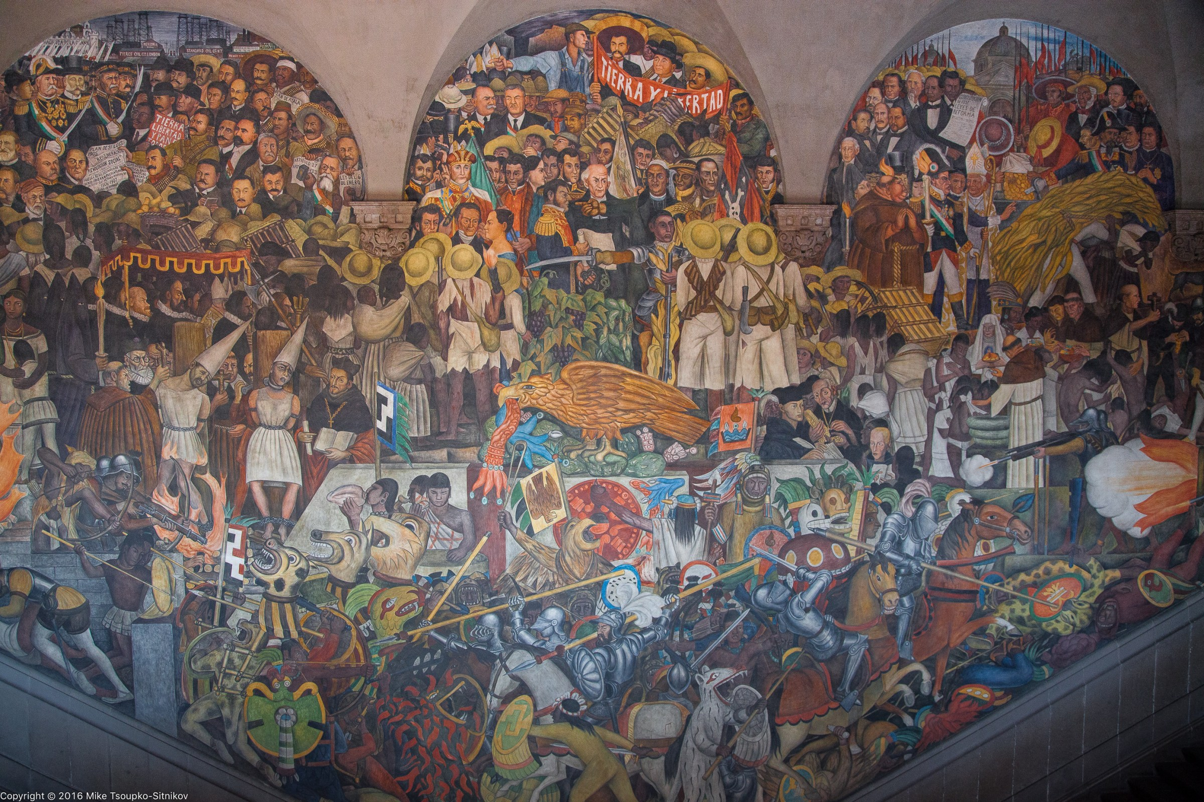 By Diego Rivera Murals Mexico City