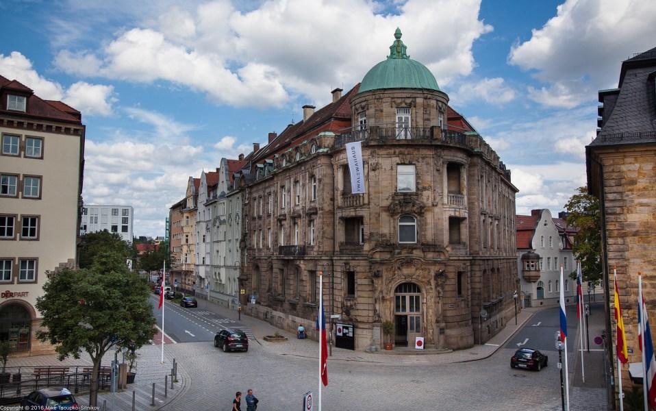 Bayreuth. The corner of Opernstraße and Münzgasse