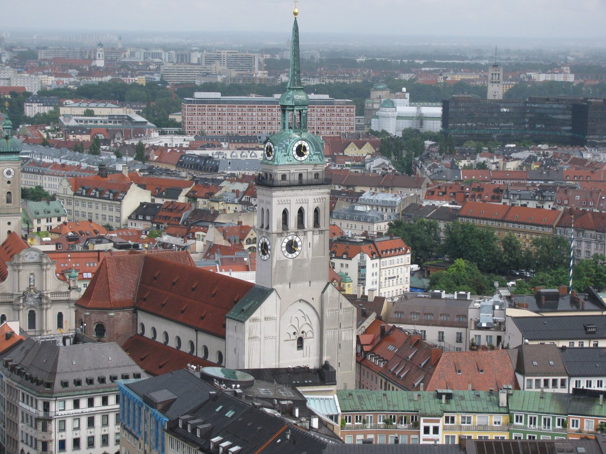 Peterskirche - a view from Frauenkirche belltower