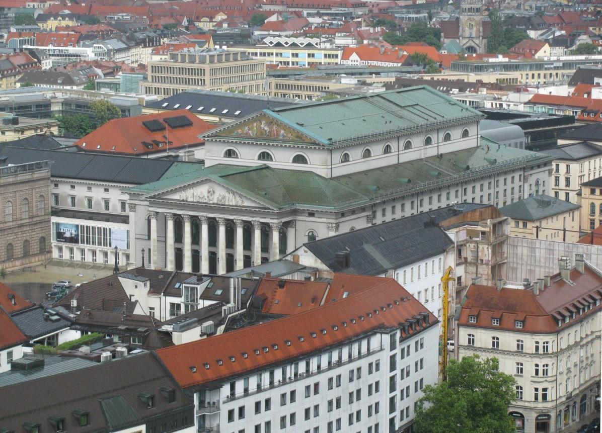 Munich State Opera - a view from Frauenkirche belltower