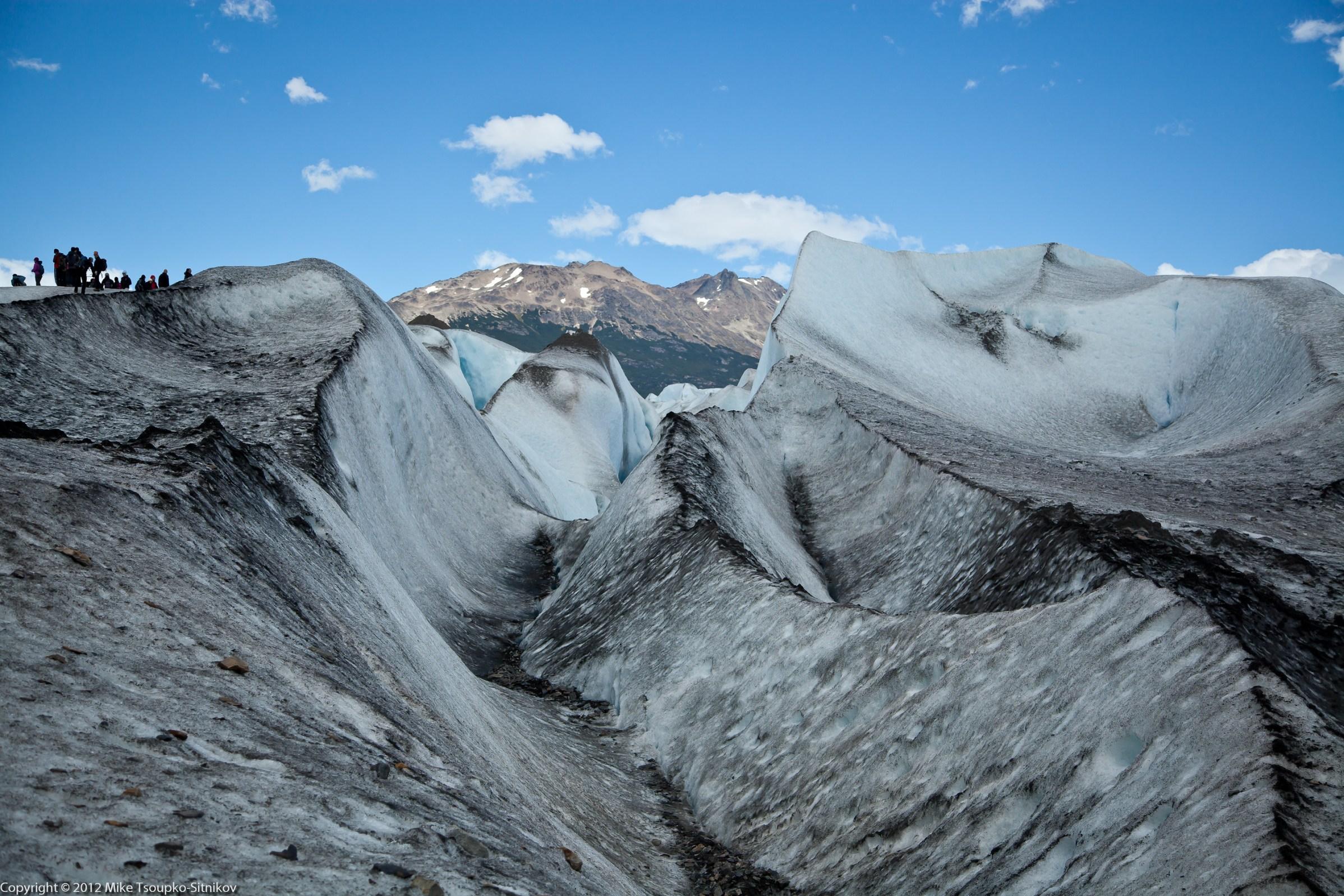 Viedma Glacier: it's not all pristine white
