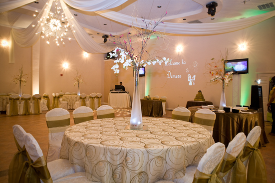 chair covers for weddings pinterest shower with arms cpt code silver package - demers banquet hall