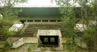 Tribuna principala a stadionului din Pripyat