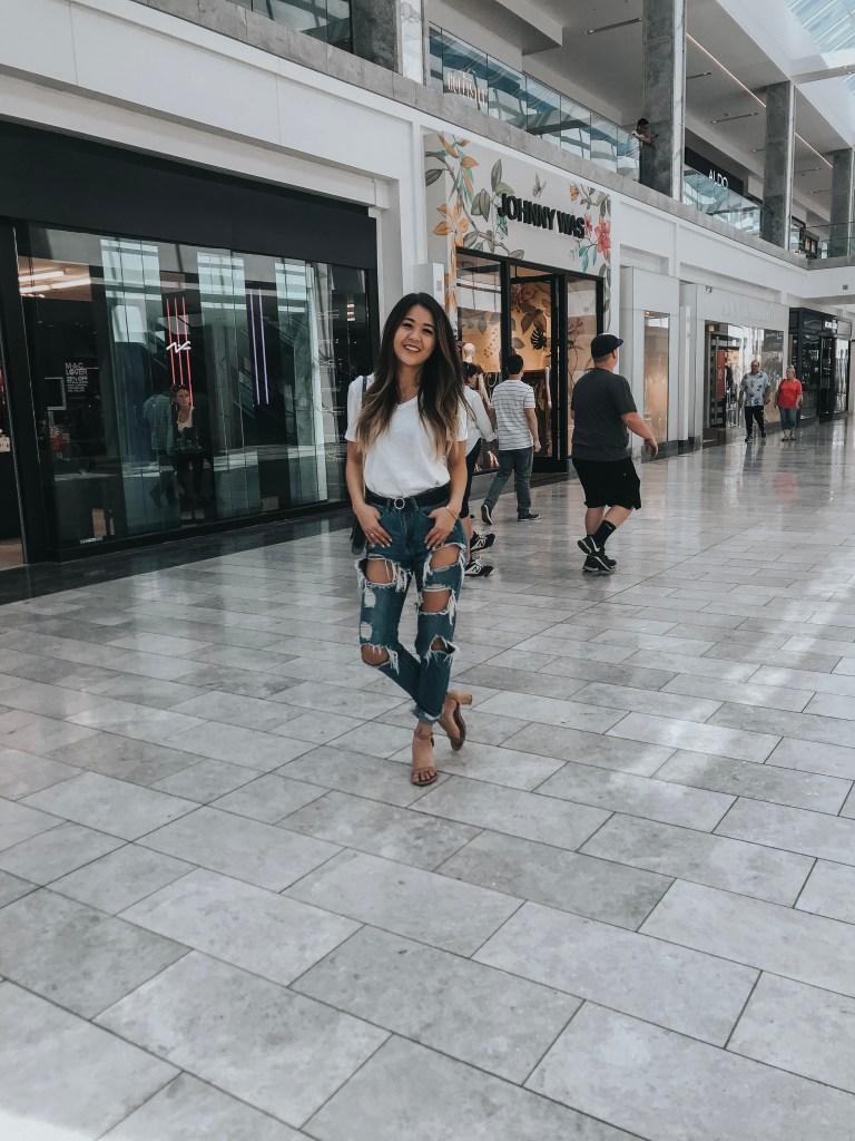 Arizona fashion blogger, Demi Bang, at Scottsdale Fashion Square.