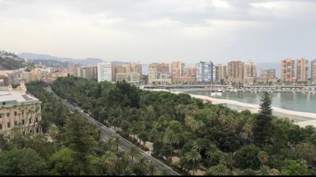 Malaga Haven en Park: Uitzicht vanaf het dakteras