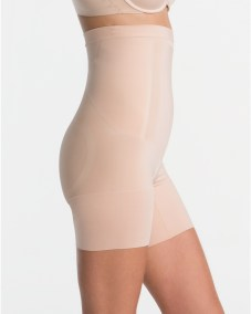 OnCore High-Waisted Mid-Thigh Short soft nude side