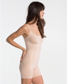 OnCore Mid-Thigh Bodysuit soft nude side