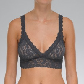 Signature Lace Bralette granite