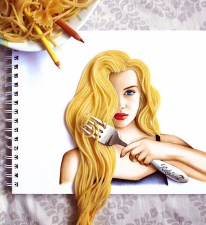 kristina paintings webb object drawings artist objects incorporating uses zealand complete drawing creative hair 3d amazing illustrations flowers magazine modern