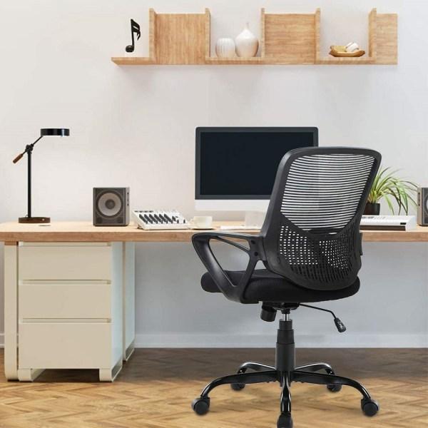 Office Chair Lumbar Support Mesh Chair Computer Desk Task Chair2