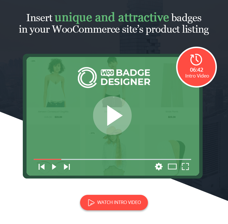 woo badge designer video