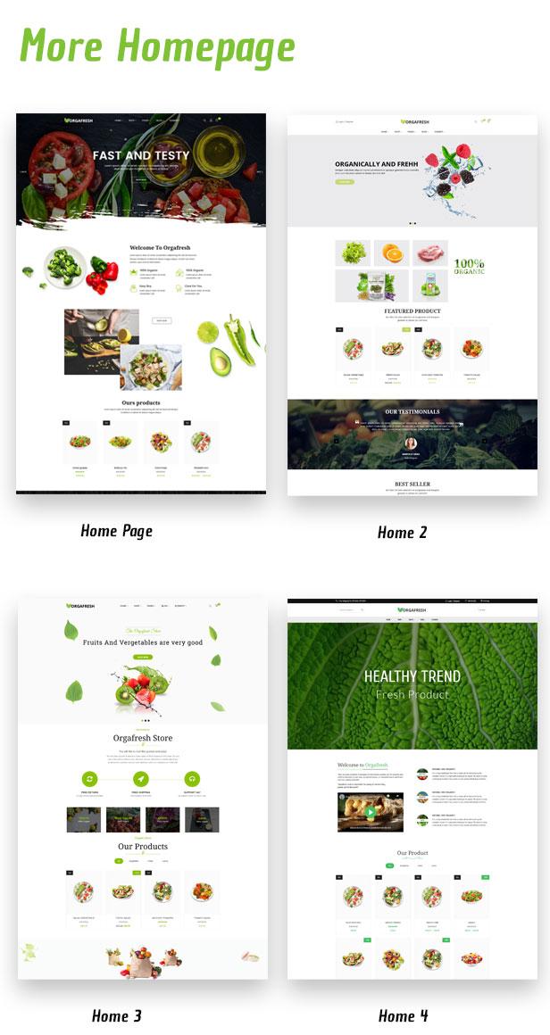 Organic Orgafresh – Organic & Food WooCommerce WordPress Theme - 1