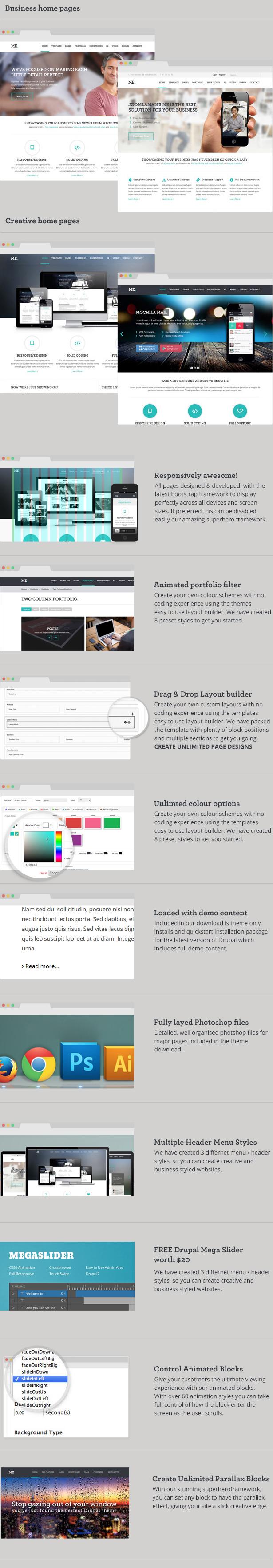 ME - MultiPurpose, Creative Drupal Theme - 3
