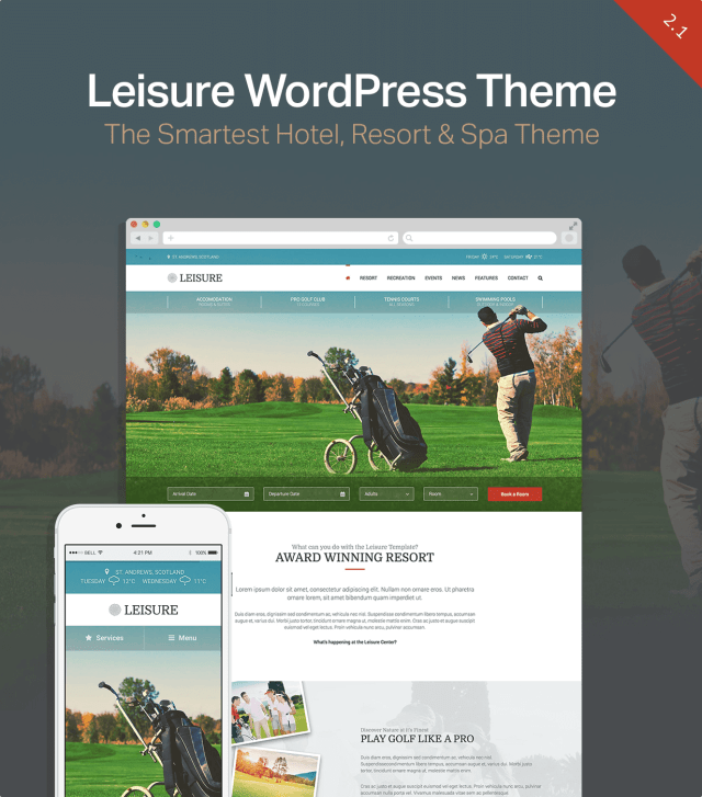 Hotel WordPress Theme | Hotel Leisure - 2