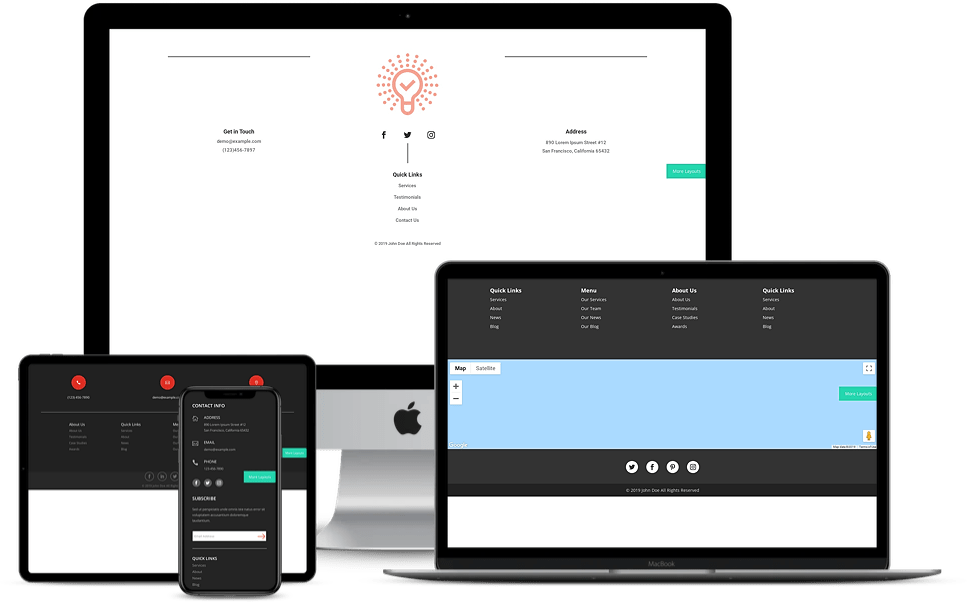 Footers for Divi 4