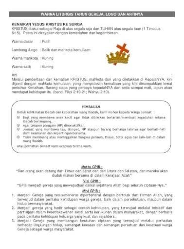 Lambang Setia Band : lambang, setia, Gereja, Protestan, Indonesia, Bagian, Barat, (G.P.I.B, Tengah, Konteks, Demikian,, Lahirlah, Pancasila,, Document]