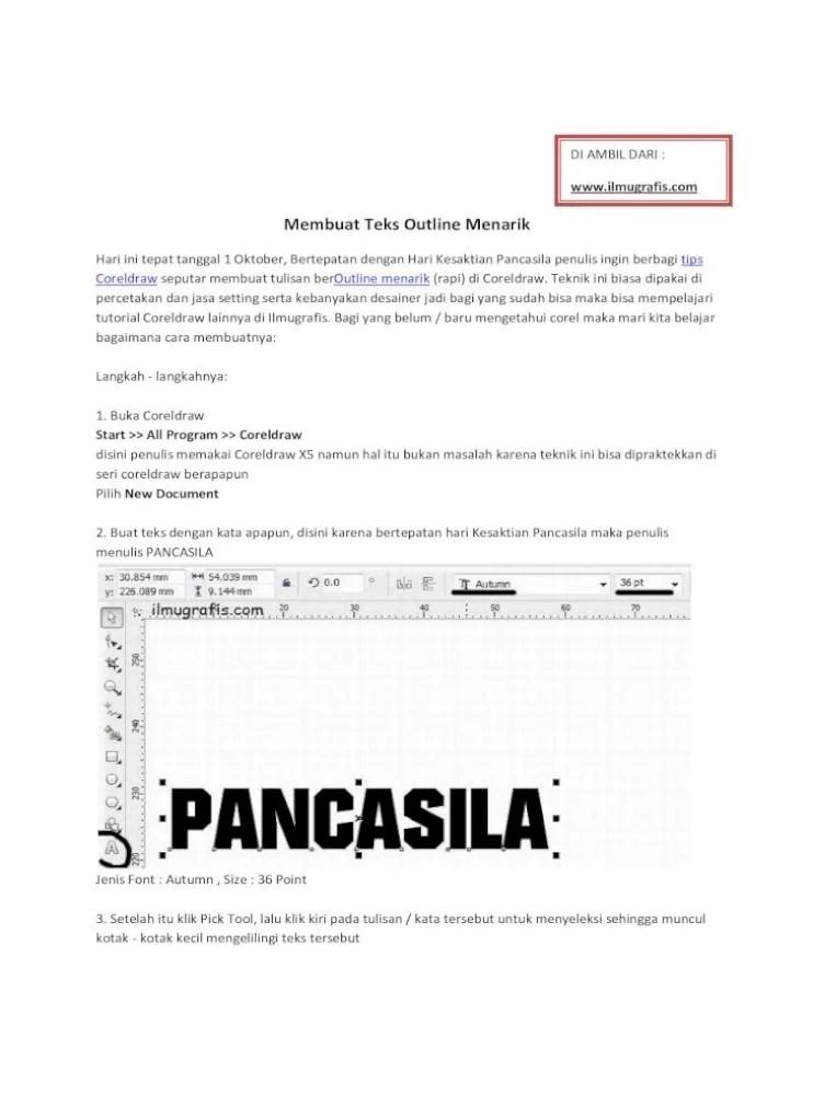 Cara Mengetahui Jenis Font Di Coreldraw : mengetahui, jenis, coreldraw, Membuat, Outline, Menarik, Nbsp;·, Tepat, Tanggal, Oktober,, Bertepatan, Dengan, Kesaktian, Pancasila, Penulis, Ingin, Berbagi, Coreldraw, Document]
