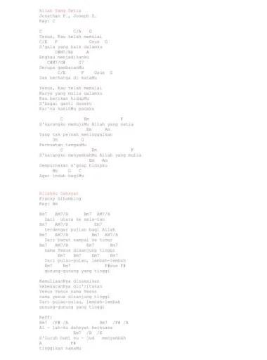 Lirik Lagu Kemenanganku : lirik, kemenanganku, ROHANI, CHORD.pdf