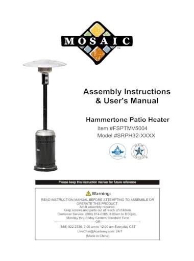 manual hammertone patio heater