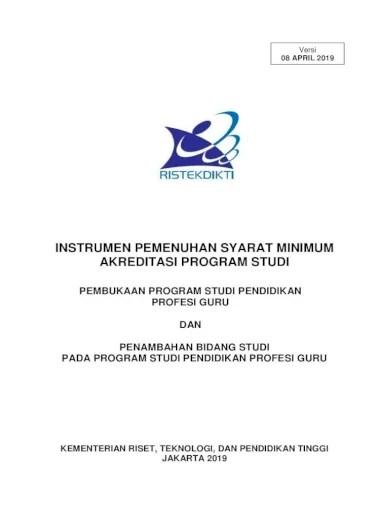 Deskripsi lulusan program magister statistika terapan. Instrumen Pemenuhan Syarat Minimum Akreditasi Statistika Terapan Pendidikan Matematika 32 2 3