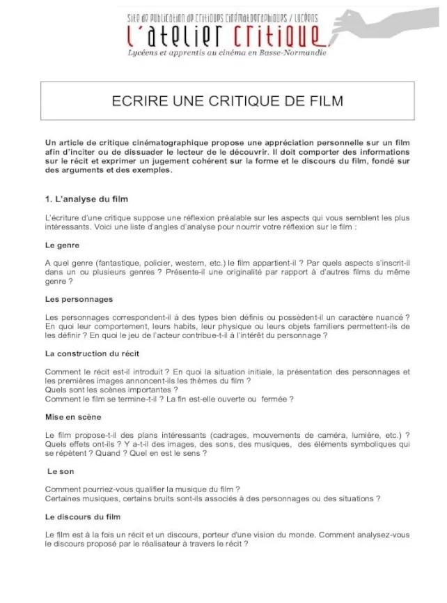 Comment écrire Une Critique De Film : comment, écrire, critique, ECRIRE, CRITIQUE, Atelier-, Récit, Exprimer, Jugement, Cohérent, Forme