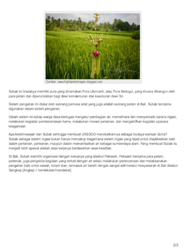 Sistem Pengairan Sawah Di Bali Disebut : sistem, pengairan, sawah, disebut, Sistem, Pengairan, Sawah