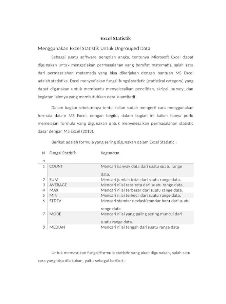 Rumus Excel Mode Dan Median (Nilai Tengah)   Belajar Office