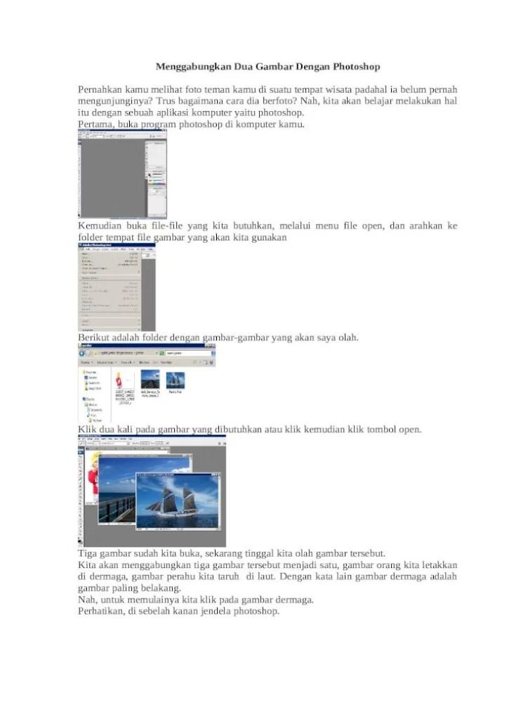 Menggabungkan Gambar Di Photoshop : menggabungkan, gambar, photoshop, Menggabungkan, Gambar, Dengan, Photoshop