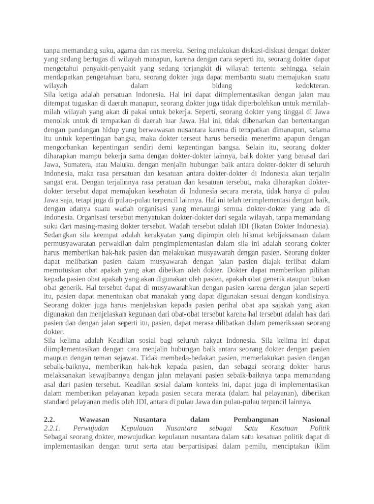 Contoh Makalah Wawasan Nusantara | TipsSerbaSerbi