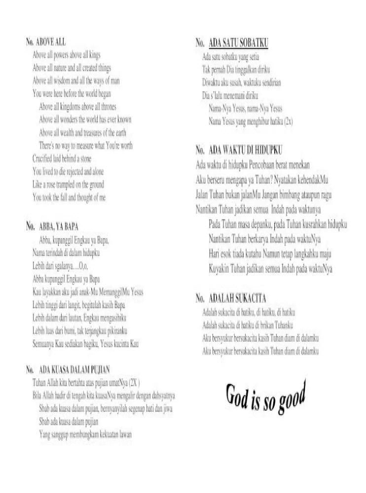 Lirik Lagu Waktu Tuhan Bukan Waktu Kita : lirik, waktu, tuhan, bukan, Lirik, Rohani, Tetap, Setia, Rasanya