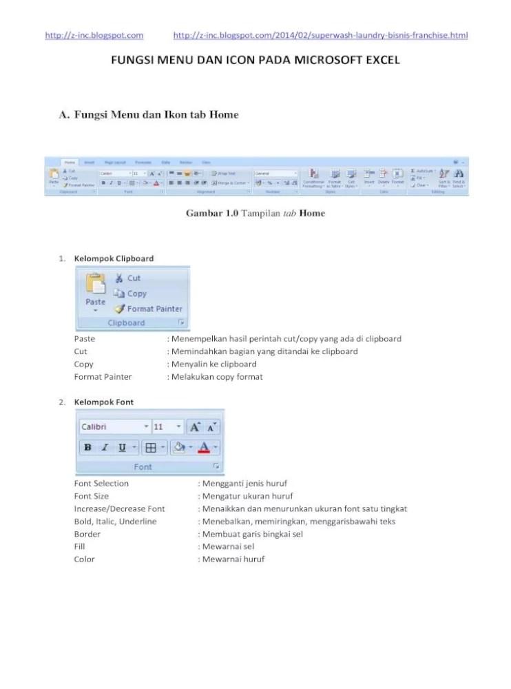 Menu Yang Ada Di Microsoft Excel : microsoft, excel, Fungsi, Microsoft, Excel
