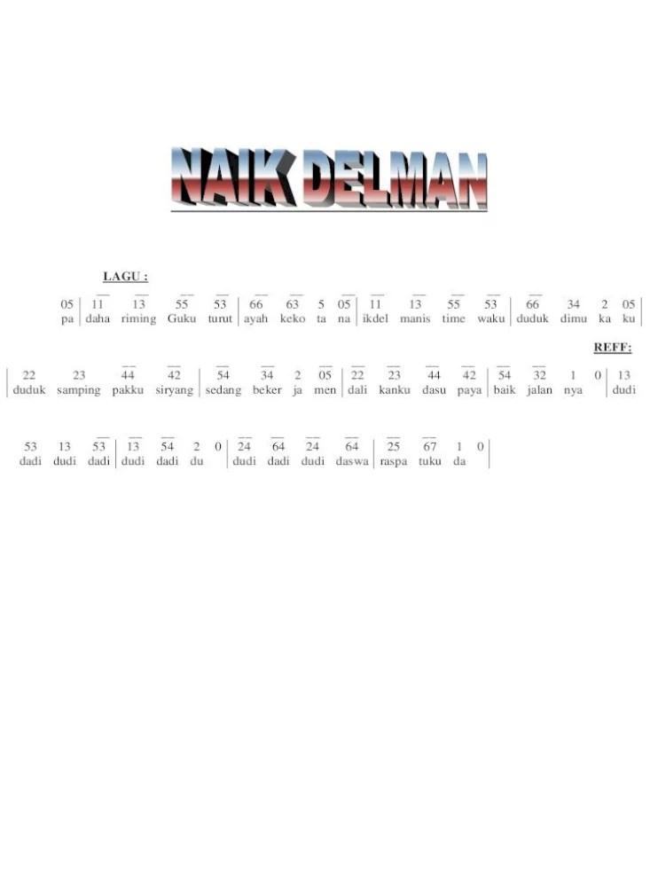 Chord Naik Delman : chord, delman, Chord, Delman, Mudah