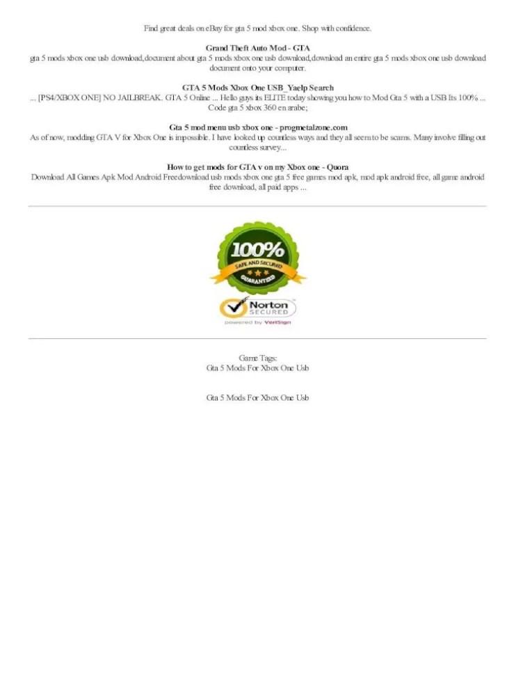 Apk Mod Menu Gta 5 Xbox One : Cheats, Simple, Possibly, Document]