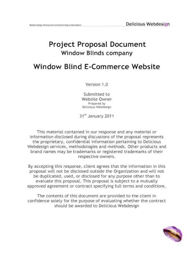 Scope Proposal Ecommerce Website - [PDF Document]