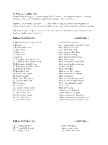 Kedutan Pipi Kanan Atas : kedutan, kanan, MAKNA, KEDUT, [DOCX, Document]