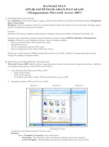 Program Aplikasi Yang Digunakan Untuk Database Adalah : program, aplikasi, digunakan, untuk, database, adalah, RANGKUMAN, APLIKASI, PENGOLAHAN, DATABASE, .Fungsi, Microsoft, Access, Berisi, Kumpulan, Perintah, Digunakan, Untuk, Mengolahan, Document]