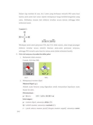 Senyawa Kovalen Polar : senyawa, kovalen, polar, Senyawa, Kovalen, Polar, Nonpolar, Materi, [DOCX, Document]