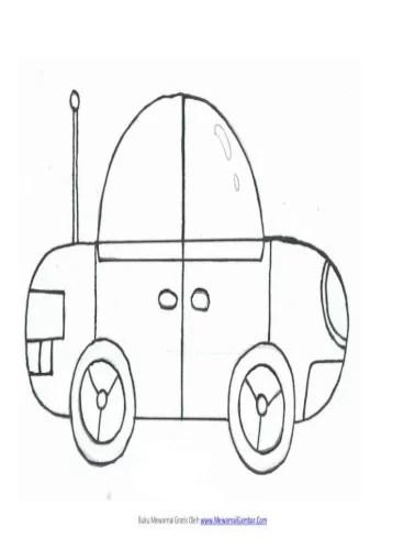 Gambar Mobil Hitam Putih Untuk Diwarnai : gambar, mobil, hitam, putih, untuk, diwarnai, Mewarnai, Gambar, Mobil, Document]
