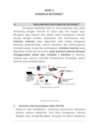 Sebutkan Syarat Syarat Koneksi Ke Internet : sebutkan, syarat, koneksi, internet, Ragam, Koneksi, Internet, Document]