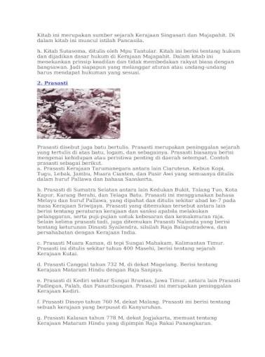 Prasasti Kedukan Bukit Berisi Tentang : prasasti, kedukan, bukit, berisi, tentang, Peninggalan, Sejarah, Hindu, Buddha, Document]
