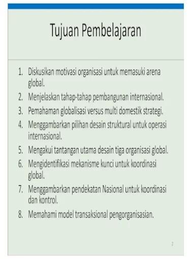 Desain Organisasi Pdf : desain, organisasi, Desain, Organisasi, Global, (Kuliah, OMPI), Document]