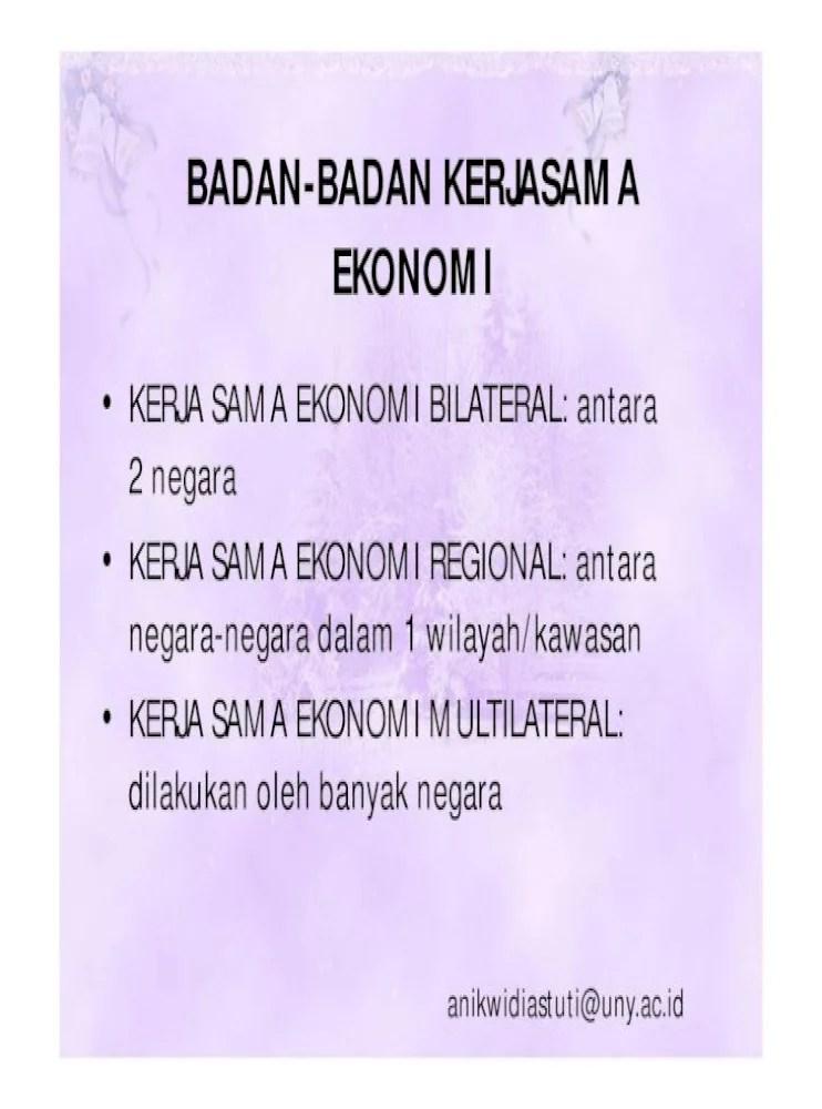 Bentuk Bentuk Kerjasama Ekonomi Internasional : bentuk, kerjasama, ekonomi, internasional, BENTUK, KERJASAMA, EKONOMI, INTERNASIONAL, Document]